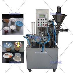 Automatische Roterende Type Koffie Capsules Coffee Powder Cup Fill Sealer Vullen Sealing Machine