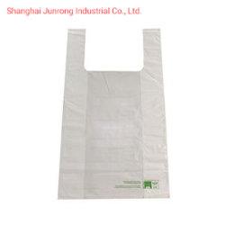 حقيبة بلاستيكية قابلة للتحلل البيولوجي لحقائب التسوق ذات الحجم المخصص الشعار سعر الجملة