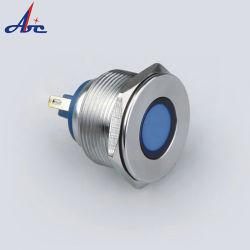 24V 110V, 120V, 220V 25mm Lâmpada piloto impermeável de Metal