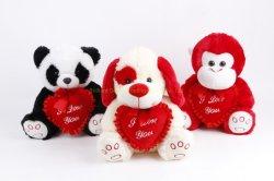 Écologique un jouet en peluche chien ours panda singe avec l'amour
