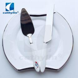 Chinaware Mes van de Cake van het Huwelijk van de Gift van het Bestek van het Roestvrij staal van het Diner het Vastgestelde