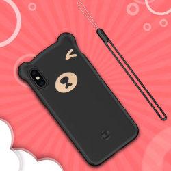 2019 Nouveau ours de silicone liquide accessoires de téléphonie mobile la couverture arrière du téléphone pour Huawei