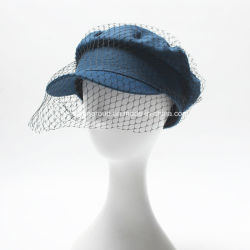La Chine Fashion Lady occasionnel Casquette Denim chapeau avec tulle
