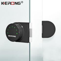 Meubles de smart électrique clavier double côté vitrine armoire de la porte du panneau de verre du verrou de porte du cabinet en verre trempé