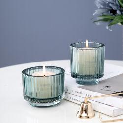 Gesprühte Hochzeit Dekorative Dekoration Glas Kerzenständer Kerzenhalter