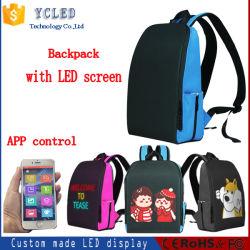 Saco de publicidade LED inteligente mochila dinâmico com tela LED de controle de aplicativos a Luz da Sinaleira Direcional WiFi mochila bolsa escolar