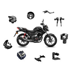 أقل سعر مخصص الحجم الدراجة البخارية قطع غيار CNC Precision machining الجزء