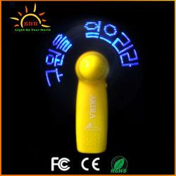 LED de promoción flash portátil Ventilador El ventilador en Corea y caracteres japoneses