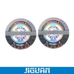 Custom 3D лазерные голограммы метки безопасности голографические наклейки наклейки из алюминиевой фольги Голографическая наклейка Anti-Counterfeit печати наклеек для сертификации