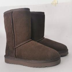 حذاء الثلج البني يحمى قشرة شتوية من جلد الشمندر