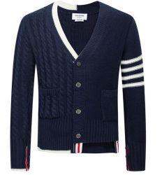 Флот Oversizsed Buttonup мужская мода Вязаная кофта пуловер
