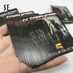 De uitstekende kwaliteit paste Gepersonaliseerd Document of Plastic Zwarte Speelkaarten aan