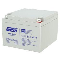 12V28ah رخيصة طويلة العمر عالية الجودة Gdc12-28 رصاص حامض البطارية بالنسبة إلى الماكينة/بنك الطاقة/ماكينة التنظيف/المجموعة/كرسي متحرك/UPS/ألعاب/أمان