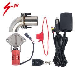 Recorte de la Escape automático con válvula eléctrica de aleación de aluminio para el rendimiento de coche de carreras