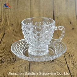 Grabar taza de café 240ml taza de té y el conjunto de platillo Vaso establece