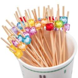"""Коктейль выбирает 4.7"""" ручной работы многоцветные закуска из бамбука зубочистки 100 кт многоцветный"""