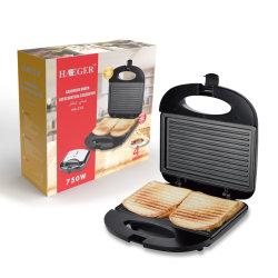 Heißer Verkauf 750W Frühstück Toaster Sandwich Maker mit Cool Touch Griff