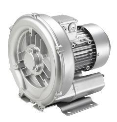 0,55 KW homologado CE UL estándar de 3 fases de una sola etapa Anillo de aire bomba de vacío de canal lateral del ventilador