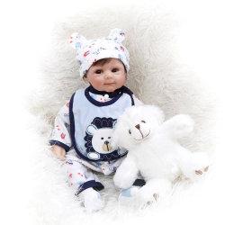 50см мягкий органа возрождается детский мальчика, кукла ручной работы мягкий силиконовый Boneca виниловых Gentle Touch Бебе для новорожденных