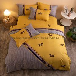 100% хлопок одеяло 3PCS Costom крышки коробки печати красоты кровать лист постельные принадлежности, печать