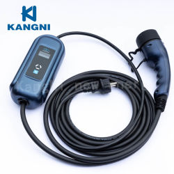 16A AC-Modus 2 Haushalt EVSE Portable Electric Car Electric Kfz-Ladegerät IEC62196 Typ 2