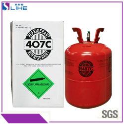 11.3kg de Freon van het Gas 407c/R407c/R-407c van het Koelmiddel van de tank