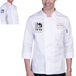 Manga Larga de alta calidad personalizado Collar de soporte de personal del servicio de Restaurante de Sushi Chef uniformes uniforme para los hombres