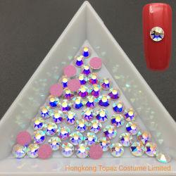 De nieuwe Beste Kwaliteit van Kleuren 7A Ss16 nam de Gouden Bergkristallen van de Kristallen van de Spijker van Ab voor het Art. van de Spijker toe