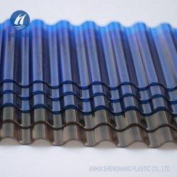 Пользовательские цвета Uvioresistant волнистых поликарбоната PC гофрированный лист