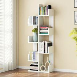 가정 가구 백색 나무 살아있는 사무실 룸을%s 기하학적인 목제 사무실 벽 사다리 책장 선반