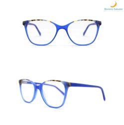 2020 het Nieuwe Heldere Blauw van de Laminering van het Ontwerp met Acetaat Demi Dame Optical Eyewear
