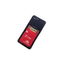 Logo Silk-Screen Stretch carte de téléphone cellulaire Wallet Smartphone 3m autocollants détenteur de carte