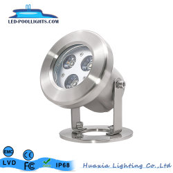 90mm 12V 24V IP68, llenos de resina foco LED de luz para estanques