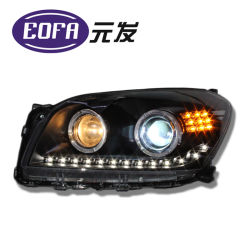 Lente da Luz duplo Conjunto do Farol HID para lâmpada de automóveis Toyota RAV4