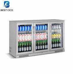 нержавеющая сталь 318L три стеклянные двери установка компрессора охладителя пива Sc-318fs