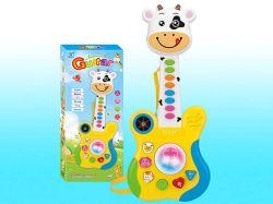 Chitarra spagnola del giocattolo del bambino con indicatore luminoso e musica