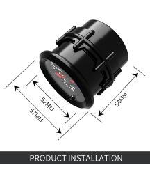 """2"""" 52mm 7 LED de cor de temperatura água Fumaça Medidor digital de Automóveis"""