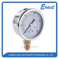 Manometer met vuldruk voor hydraulische vloeistof, olieglycerine gevuld