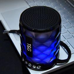 Draadloze Spreker met de Kleurrijke Lichte Tg155 Kaart van de Steun Bt/USB/TF/de Functie van de Flits Aux/FM/LED