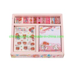 Office Hand Book Decorating 스티커 및 Wash Tape Gift Set