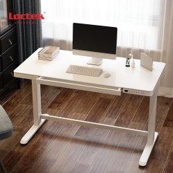 Loctek ET118W-N электрический деревянные Sit-Stand регулируемая по высоте компьютера ноутбук исследование письменный стол с заправочным отверстиям и выдвижной ящик для офиса и дома