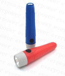 Cheap colorido plástico portátil 2AA linterna LED para exteriores