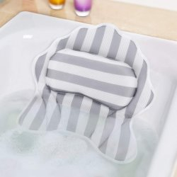 도매 호화스러운 비 Eco 친절한 홈 미끄러짐 흡입 컵을%s 가진 방수 3D 메시 쐐기(wedge) 통 온천장 목욕 베개
