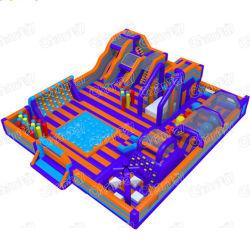 Hindernis-Kurs-Innenspielplatz-aufblasbarer Freizeitpark-Innenhindernis für Erwachsenen und Kinder