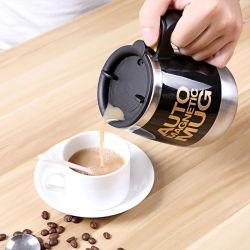 전기 스테인리스 스틸 이중 절연 이동 자동 자교반 자석 커피 머그컵