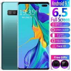 Venda por grosso Original Novo S10 + Smart Phone 6.1 Polegada, 6g / 128g telefone móvel com tela grande sem placa dupla de destravamento Celular