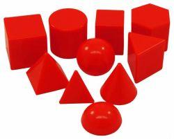 10 formas de plástico en 3D de sólidos geométricos