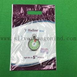 플라스틱 선물 쇼핑백/강화 다이 컷 손잡이가 있는 식료품 가방, 사용자 지정 크기 및 프린트