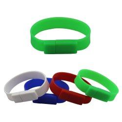 Oferta promocional do disco USB pulseiras banda dons barata em forma de unidade flash USB em PVC personalizada