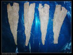 Filetes de abadejo de Alaska salada congelada